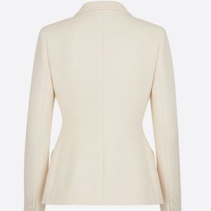 Christian Dior 100% Wool Tan Blazer